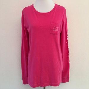 Vineyard Vines Womens Pink Whale T Shirt Small